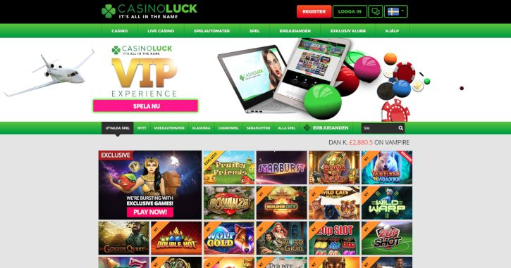 Casino Luck home page