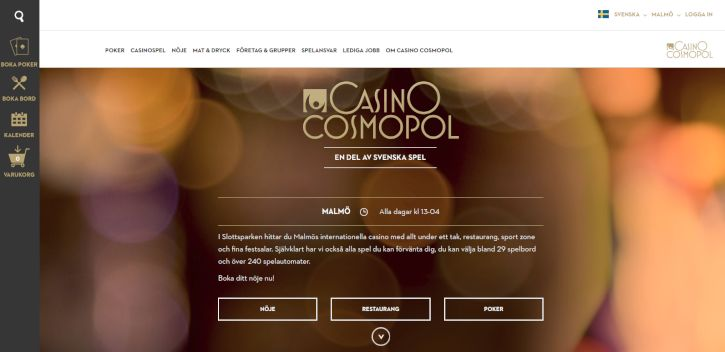 Casino Cosmopol home page