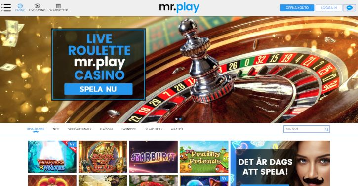 MrPlay Casino home page