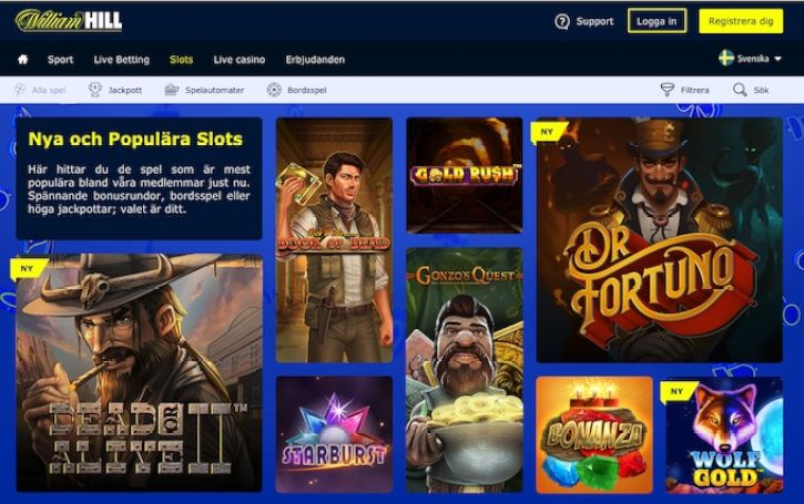 William Hill Casino home page